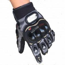 """Мотоперчатки с защитой, текстильные """"PRO-BIKER"""" MCS-01L черно-серые"""
